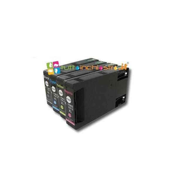 Kit 5 Cartucce Compatibile Epson Nero T0711